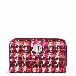 Vera Bradley RFID Turnlock Wallet in Houndstooth Tweed