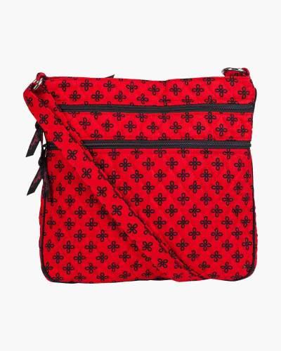 Triple Zip Hipster Crossbody in Red/Black