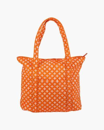 Vera Tote Bag in Orange/White