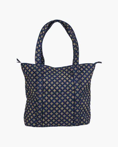 Vera Tote Bag in Navy/Orange