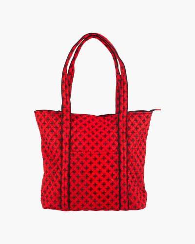 Vera Tote Bag in Red/Black