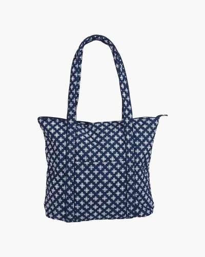 Vera Tote Bag in Navy/White