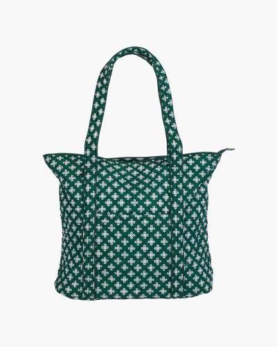 Vera Tote Bag in Green/White