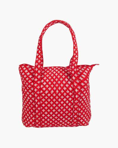 Vera Tote Bag in Red/White