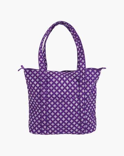 Vera Tote Bag in Purple/White