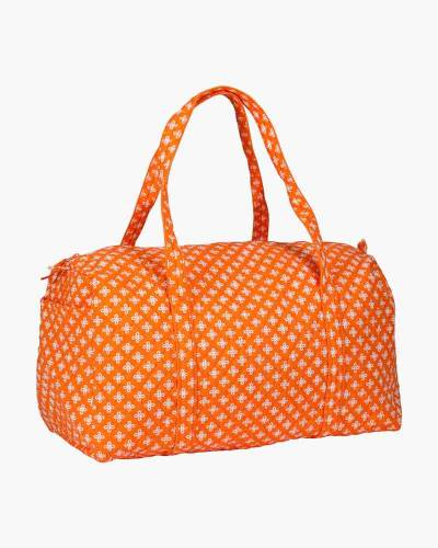 Large Duffel in Orange/White