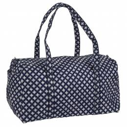 Vera Bradley Large Duffel in Navy/White