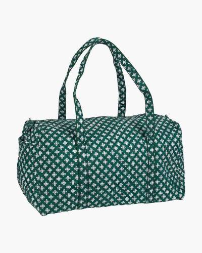 Large Duffel in Green/White
