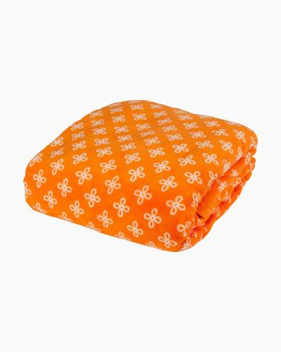 Throw Blanket in Orange/White