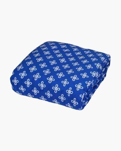 Throw Blanket in Royal/White