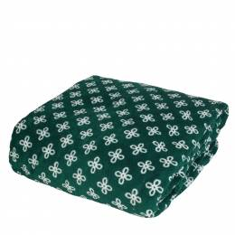 Vera Bradley Throw Blanket in Green/White