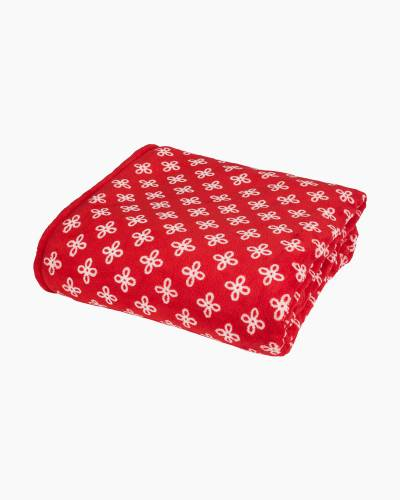 Throw Blanket in Red/White