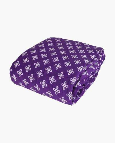 Throw Blanket in Purple/White