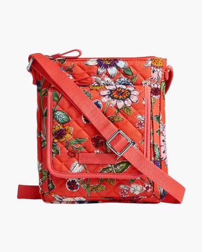 Iconic RFID Mini Hipster in Coral Floral