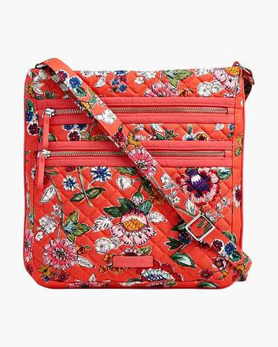 Iconic Triple Zip Hipster in Coral Floral