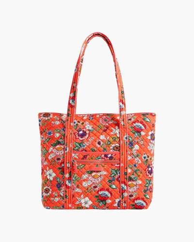 Iconic Vera Tote in Coral Floral