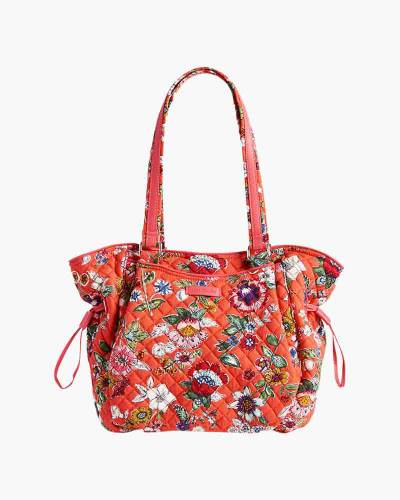 Iconic Glenna Satchel in Coral Floral