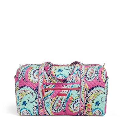 Iconic Large Travel Duffel in Wildflower Paisley