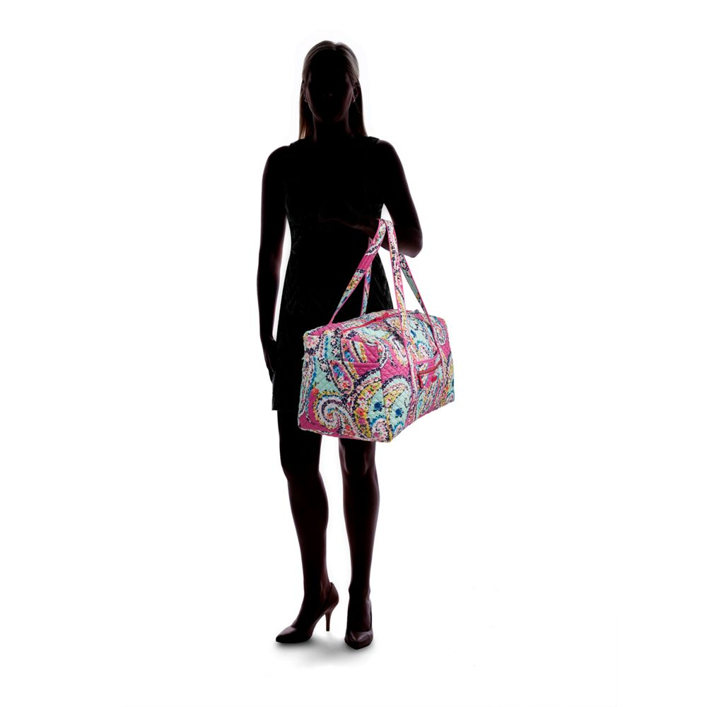 09a9f8f81 Vera Bradley Iconic Large Travel Duffel in Wildflower Paisley   The ...