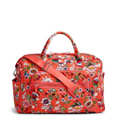 52b286810d0e Vera Bradley Iconic Weekender Travel Bag in Coral Floral