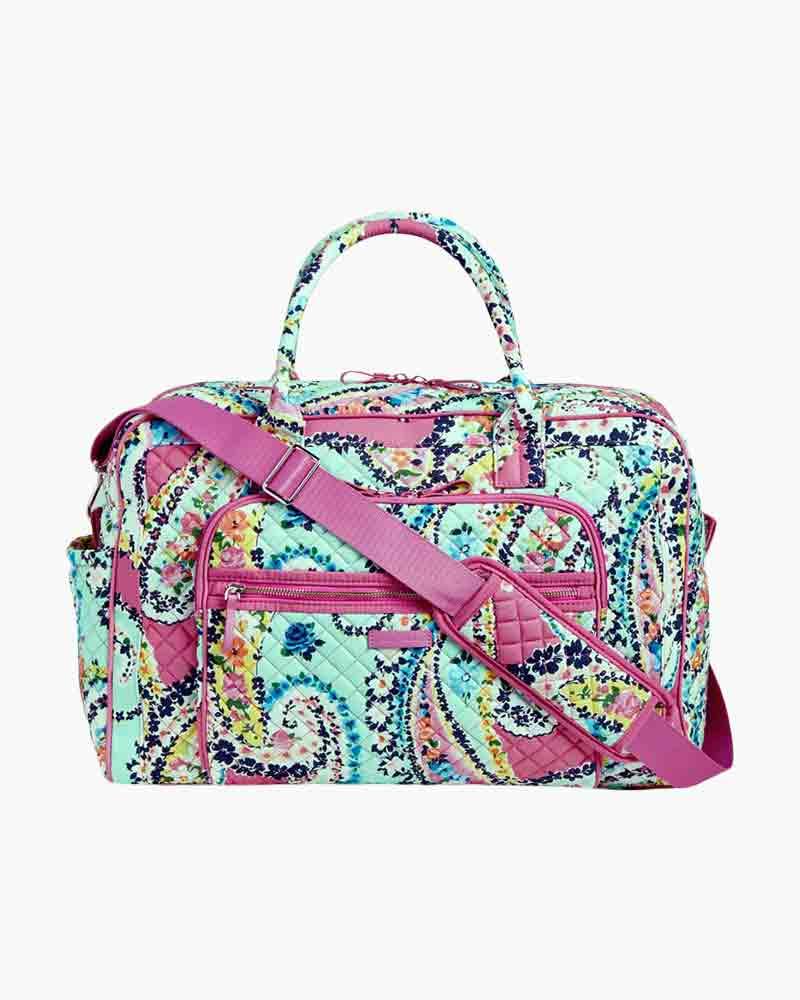 Vera Bradley Iconic Weekender Travel Bag in Wildflower Paisley | The ...