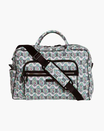 Iconic Weekender Travel Bag in Paisley Stripe