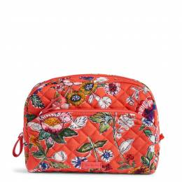 Vera Bradley Iconic Medium Cosmetic in Coral Floral