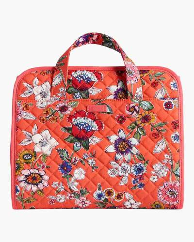 Iconic Hanging Travel Organizer in Coral Floral