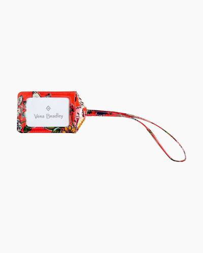 Iconic Luggage Tag in Coral Floral