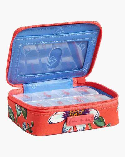 Iconic Travel Pill Case in Coral Floral