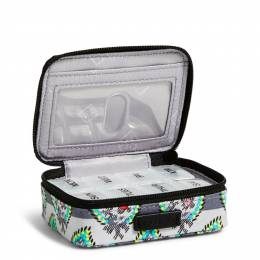 Vera Bradley Iconic Travel Pill Case in Paisley Stripe