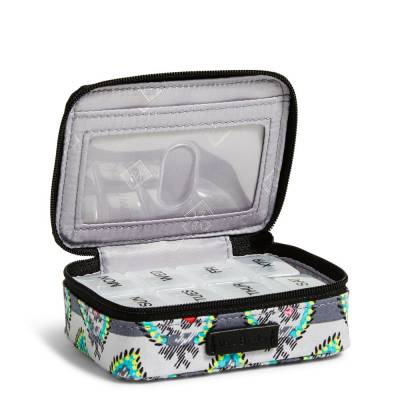 Iconic Travel Pill Case in Paisley Stripe