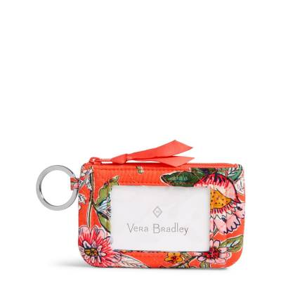 Iconic Zip ID Case in Coral Floral