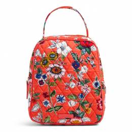 Vera Bradley Lunch Bunch Bag in Coral Floral