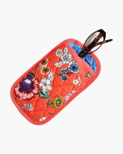 Double Eye Case in Coral Floral