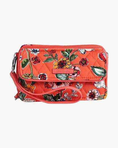 RFID All in One Crossbody in Coral Floral
