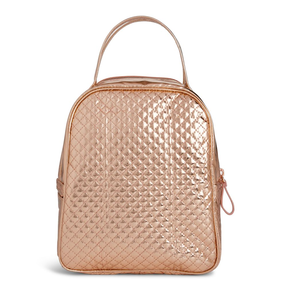 647910590a69 Vera Bradley Iconic Lunch Bunch in Rose Gold Shimmer