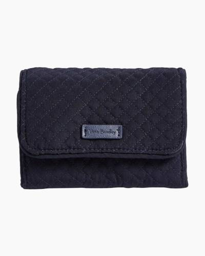 Iconic RFID Riley Compact Wallet in Classic Navy