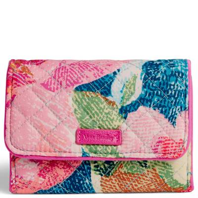 Iconic RFID Riley Compact Wallet in Superbloom
