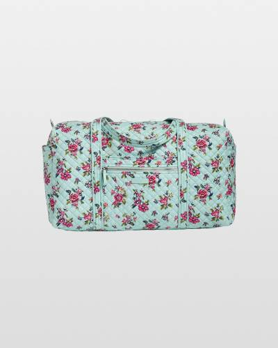 Iconic Large Travel Duffel in Water Bouquet