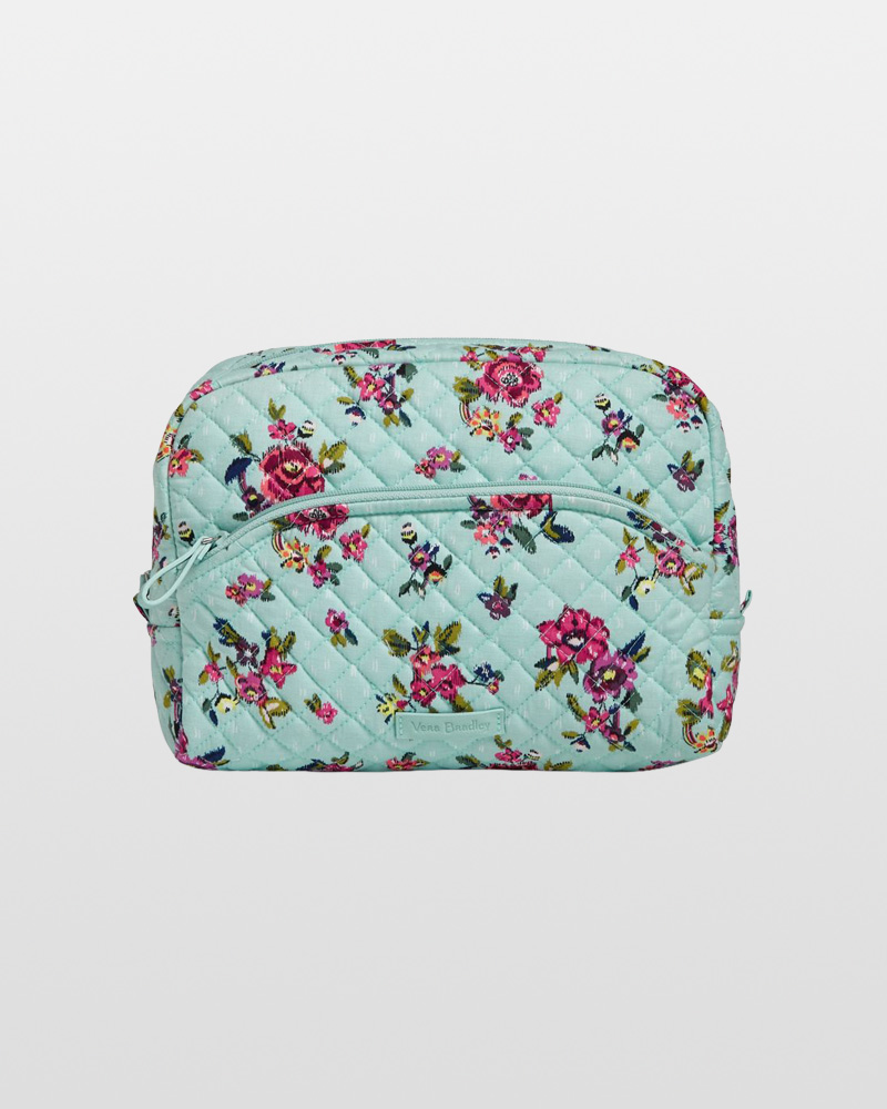 Vera Bradley Iconic Large Cosmetic in Water Bouquet   The Paper Store