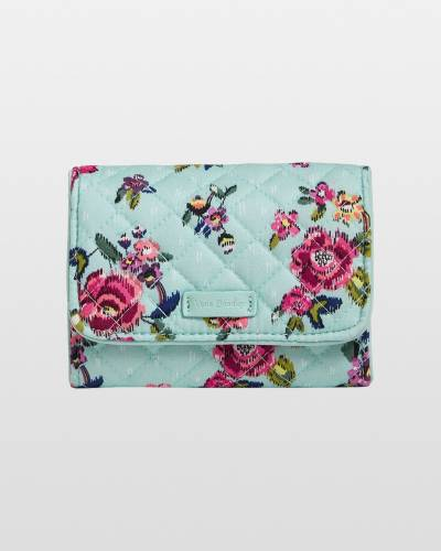 Iconic RFID Riley Compact Wallet in Water Bouquet