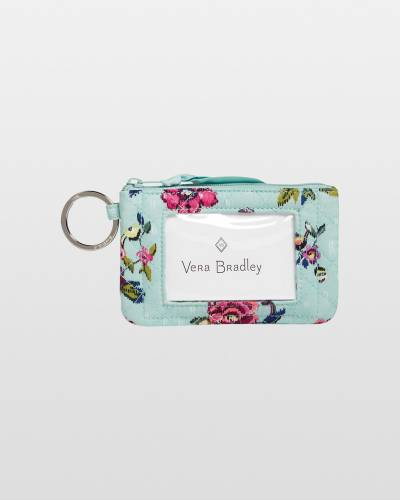 Iconic Zip ID Case in Water Bouquet