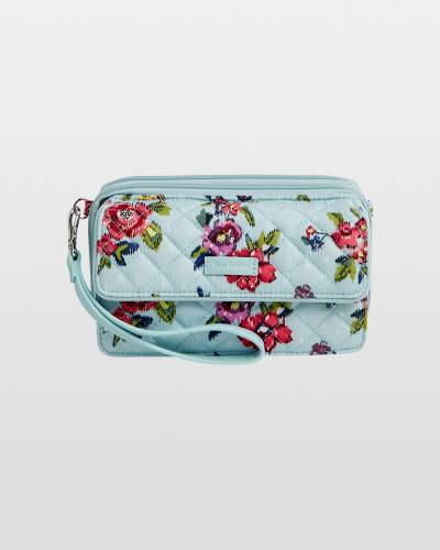 Iconic RFID All in One Crossbody in Water Bouquet