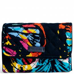 Vera Bradley Iconic RFID Riley Compact Wallet in Butterfly Flutter