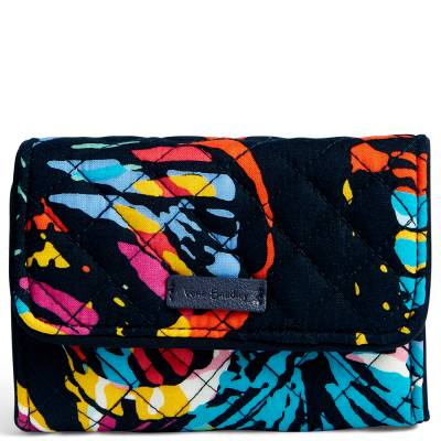 Iconic RFID Riley Compact Wallet in Butterfly Flutter