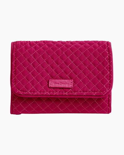 Iconic RFID Riley Compact Wallet in Passion Pink