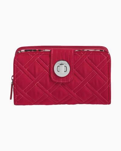 RFID Turnlock Wallet in Passion Pink