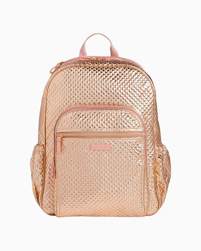 Vera Bradley Iconic Campus Backpack in Rose Gold Shimmer  72468f7ab659b