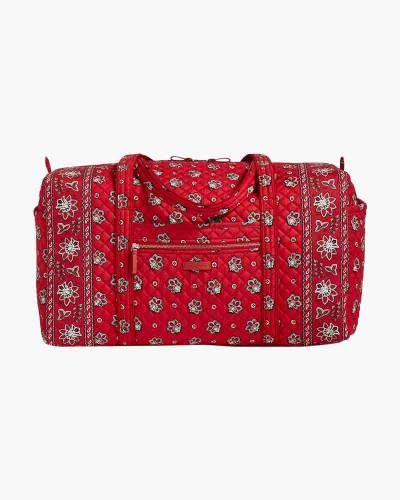 Iconic Large Travel Duffel in Red Bandana